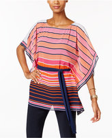 MICHAEL Michael Kors Striped Boat-Neck Tunic