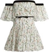 Giambattista Valli Off-the-shoulder floral-print georgette dress
