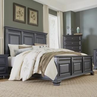 Storage Standard Bed Roundhill Furniture Size: King, Color: Vintage Black