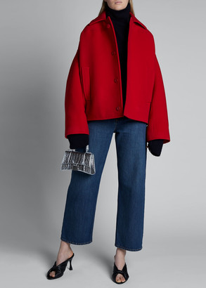 Balenciaga Upside Down Wool-Cashmere Peacoat