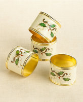 Lenox Holiday Nouveau Napkin Rings, Pack of 4