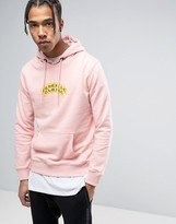 Criminal Damage Hoodie In Pink With Text