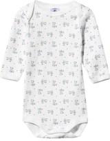 Petit Bateau White Teddy Bear Print Long Sleeve Body