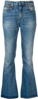 R 13 Jasper flared jeans