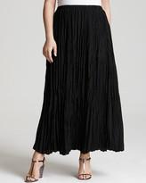 Love Ady Plus Size Crinkle Pleat Maxi Skirt
