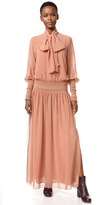 See by Chloe Tie Neck Maxi Dress
