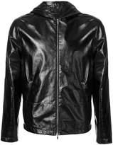 Valentino hooded leather jacket