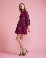 Cynthia Rowley Floral Lace Ruffle Sleeve Dress