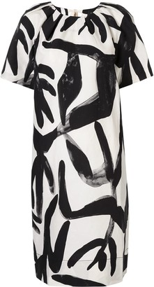 Lee Mathews Abstract-Print Dress