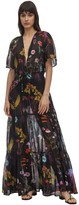 Stella McCartney Trippy Floral Print Cotton & Silk Dress
