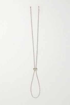 Jacquemus Silver-tone Crystal Hat Chain
