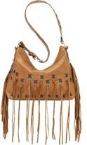 American West Women's River Ranch Slouch Zip-Top Shoulder Bag Tassel
