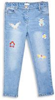 Margherita Kids Girls 2-6x Denim Patch Jeans