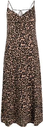 Baum und Pferdgarten Asta leopard print slip dress