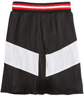 Givenchy Two-Tone Pleated Mesh Skirt, Size 12