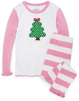 Sara's Prints Infant Girls' Wide Stripe Pajama Set - Sizes 12-24 Months