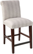 Skyline Furniture Rolled Back Counter Stool, Pewter Spot