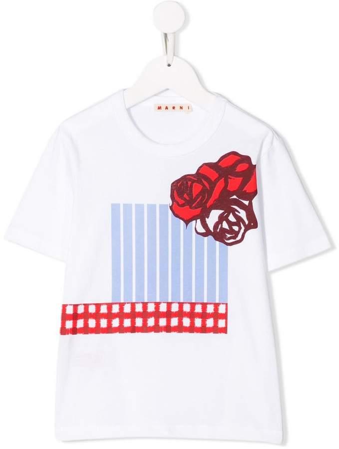 Marni graphic floral print T-shirt