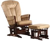 Dutailier Multi-position Coffee/ Light Brown Reclining 2-post Glider and Ottoman Set