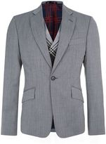 Vivienne Westwood Wool Jacket with Tartan Waistcoat
