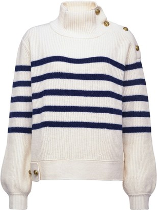 Pinko Striped High Neck Jumper