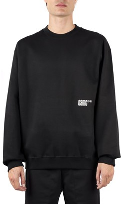 Oamc Cotton Sweatshirt With Logo And Graphic Print
