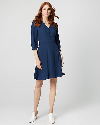 Le Château Viscose V-Neck Tunic Dress
