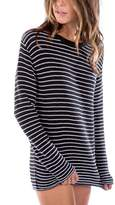 Ragdoll LA STRIPED KNIT SWEATER Black & White