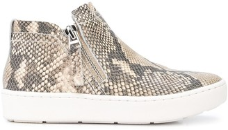 Dolce Vita Snakeskin Effect Side Zip Sneakers