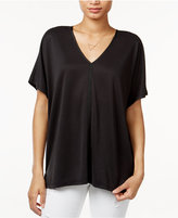 Bar III V-Neck Short-Sleeve Top, Only at Macy's