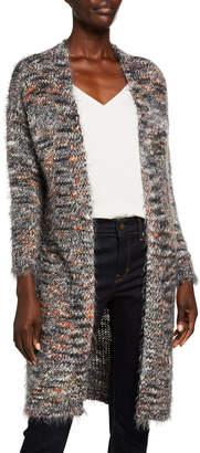 Moda Seta Marled Yarn Wool-Blend Sweater Coat