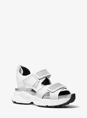 Michael Kors Harvey Canvas and Mesh Sport Sandal