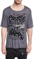 Pierre Balmain Logo Graphic Short-Sleeve T-Shirt, Dark Gray