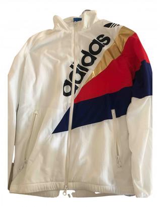 adidas White Synthetic Jackets