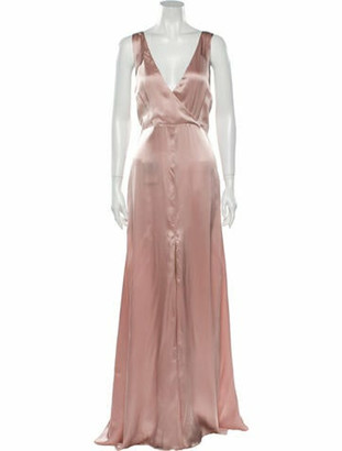 Reformation V-Neck Long Dress w/ Tags Pink