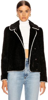 Shrimps Argus Faux Fur Jacket in Black | FWRD