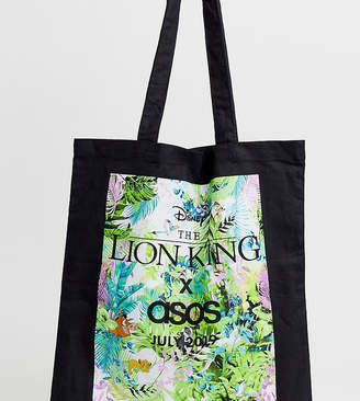 Asos Design Disney The Lion King x DESIGN unisex tote bag with limited edition jungle print