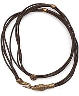 alkemie Leather Serpent Wrap Bracelet