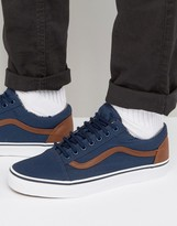 Vans Old Skool Trainers In Blue Va38g1mve