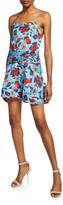 Derek Lam 10 Crosby Floral-Print Mini Cami Flounce Dress with Twist-Waist Detail