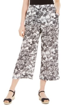 Charter Club Petite Floral-Print Cropped Pants, Created for Macy's