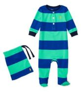 Ralph Lauren Striped Cotton Pajamas Pale Kelly 9M
