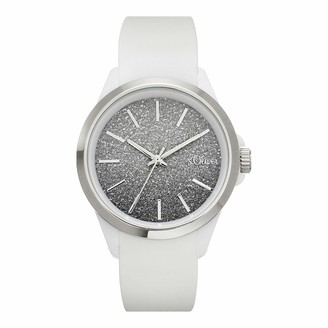 S'Oliver Girl's Analogue Quartz Watch with Silicone Strap SO-4266-PQ