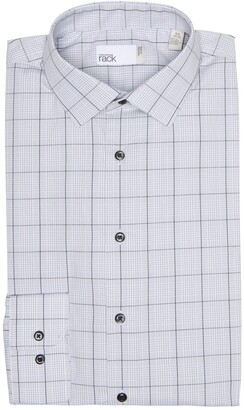 Nordstrom Rack Plaid Non-Iron Trim Fit Dress Shirt