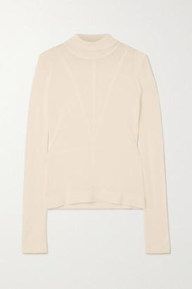 Altuzarra Reiko Paneled Knitted Turtleneck Sweater - Ivory