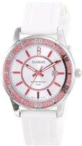 Casio Women's LTP1358-4A1V Pink Bezel Watch