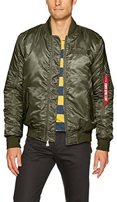 WT02 Men's Ma-1 Padded Flight Bomber Jacket in Solid and Camo Colors