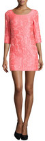 Tracy Reese Scoop-Neck Floral Jacquard Dress