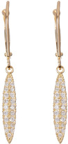Candela 10K Yellow Gold Elongated CZ Dangle Earrings