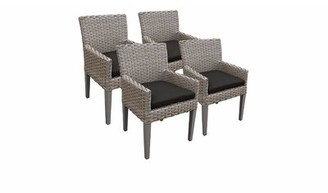 Rochford Sol 72 Outdoor Patio Dining Chair with Cushion Sol 72 Outdoor Cushion Color: Black